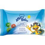 Влажные салфетки с антибактериальным эффектом для детей  серии «Астронавтик»